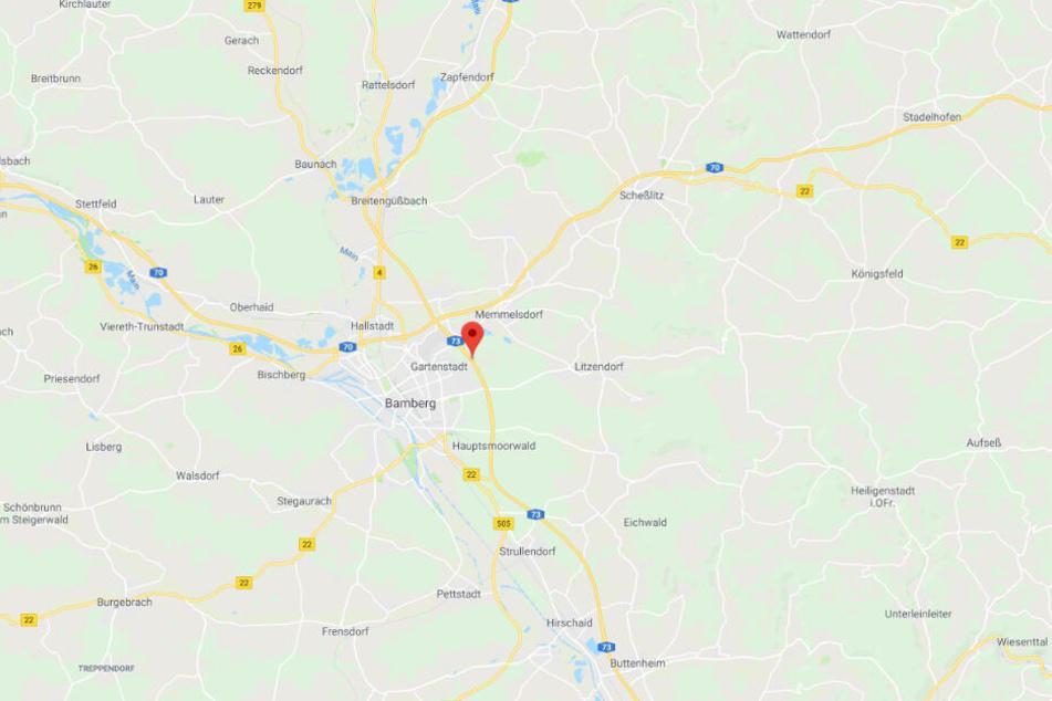 Der Unfall ereignete sich auf der A73 bei Bamberg.