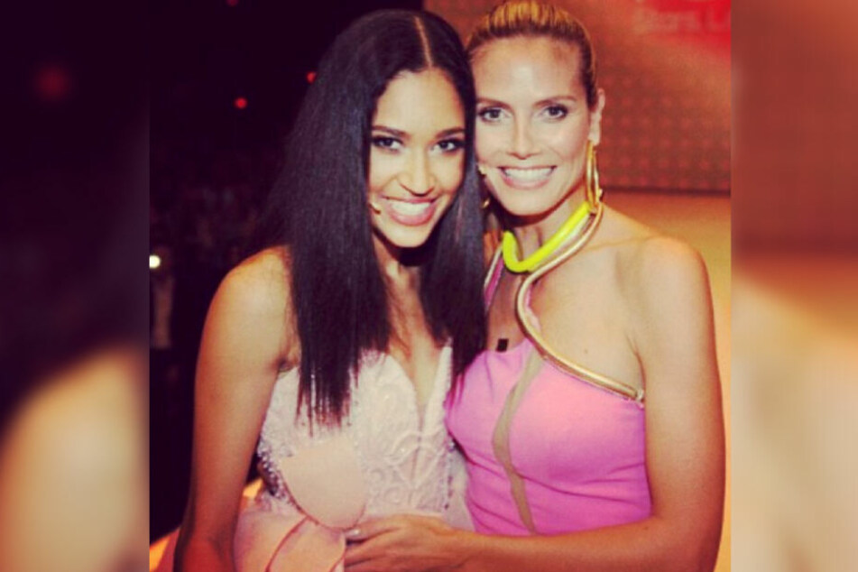 "Heid Klum (rechts) kührte Lovelyn 2013 zu ""Germany's Next Topmodel""."