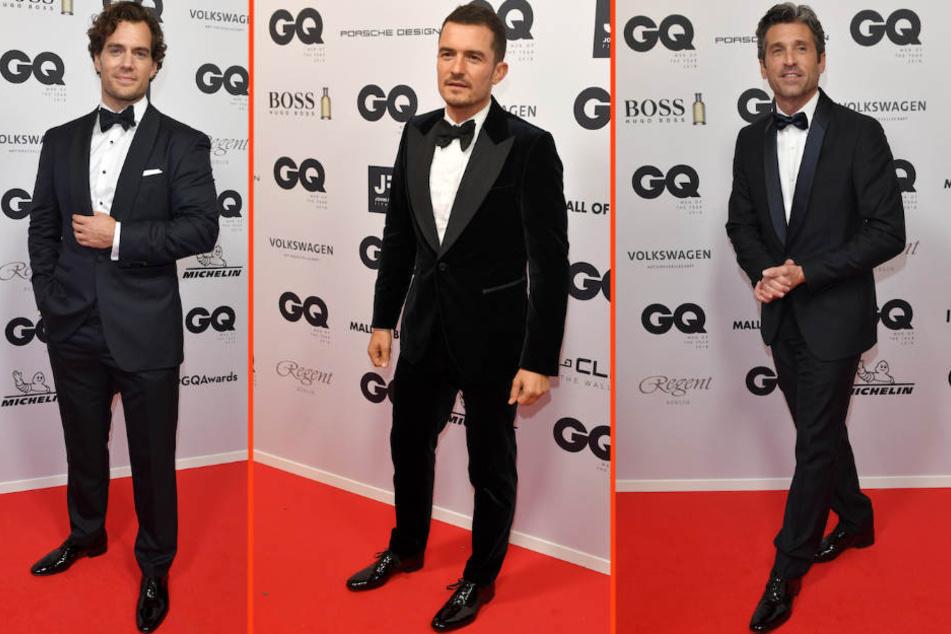 Einer schöner als der andere: die Schauspieler Henry Cavill, Orlando Bloom und Patrick Dempsey.