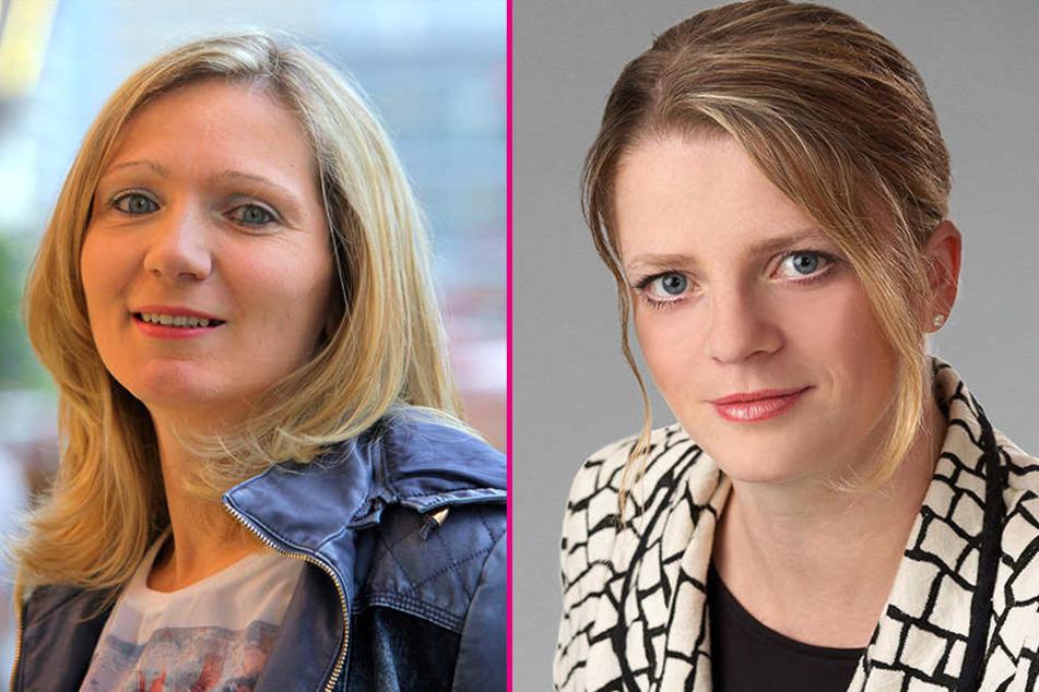 Die Stadträtinnen Peggy Schellenberger (40, SPD) und Susanne Schaper (38, Linke) kontern Runkels Frauenwitz.