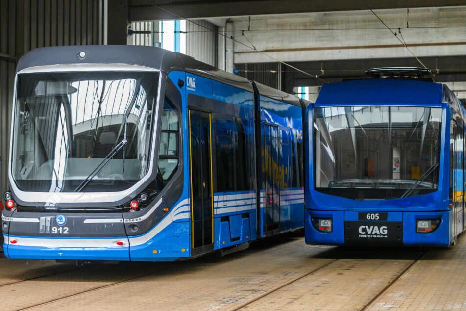 Ende März haben die neuen Bahnen den Testbetrieb in Chemnitz aufgenommen.