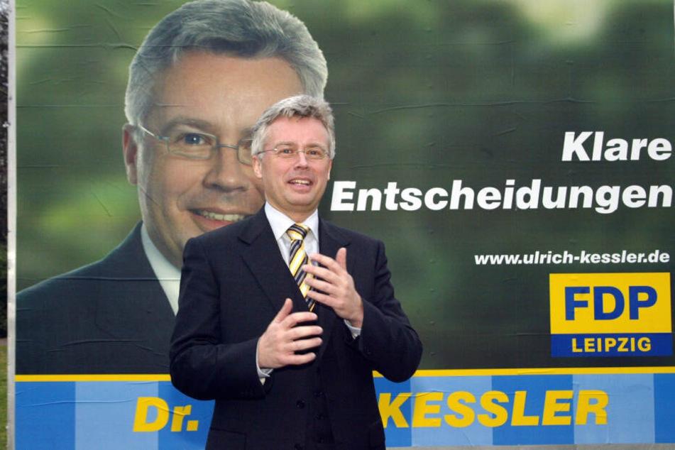 Seine Karriere als FDP-Chef liegt schon lange zurück, trotzdem beschäftig Dr. Ulrich Keßler die Leipziger Justiz.