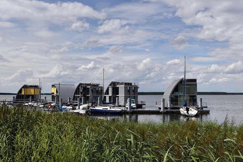 Wohnen mitten auf dem See: In Hoyerswerda ist das möglich.