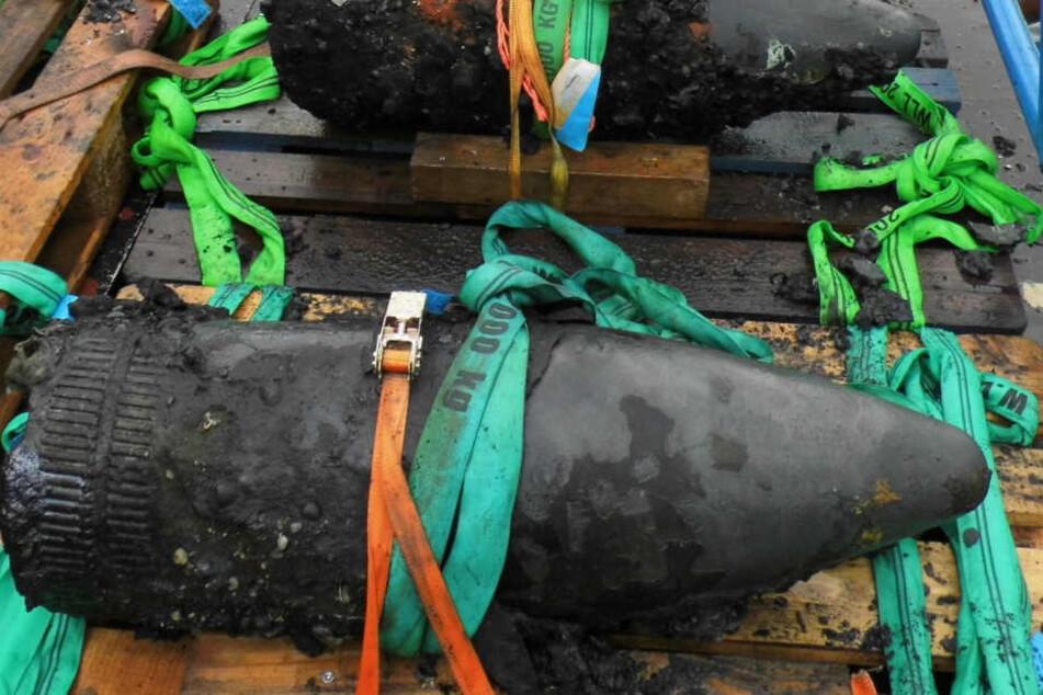 Kampfmittel aus dem zweiten Weltkrieg wurden 2016 in der niedersächsischen Nordsee geräumt.