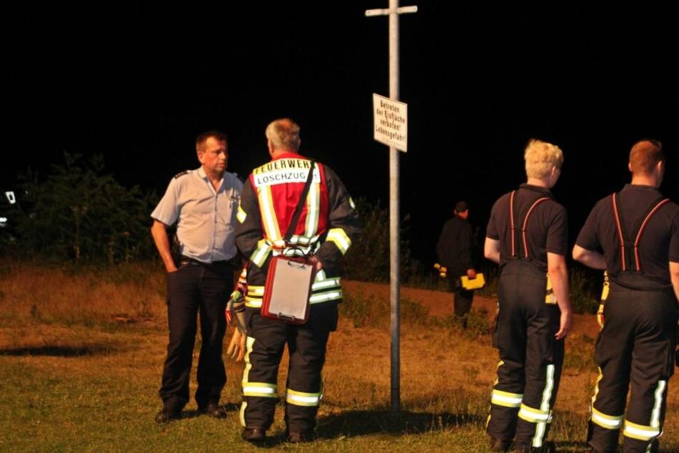 Mehrere Stunden lang suchte ein Großaufgebot der Feuerwehr vergeblich nach dem Vermissten.