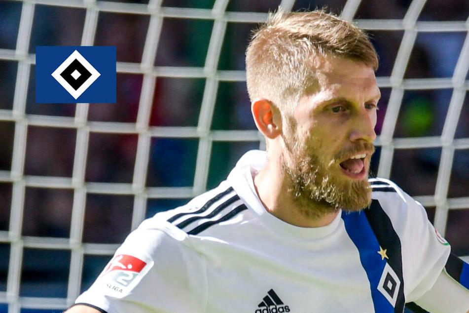 HSV-Kapitän Aaron Hunt bei Vorbereitungen auf Spiel gegen Dynamo mit dabei