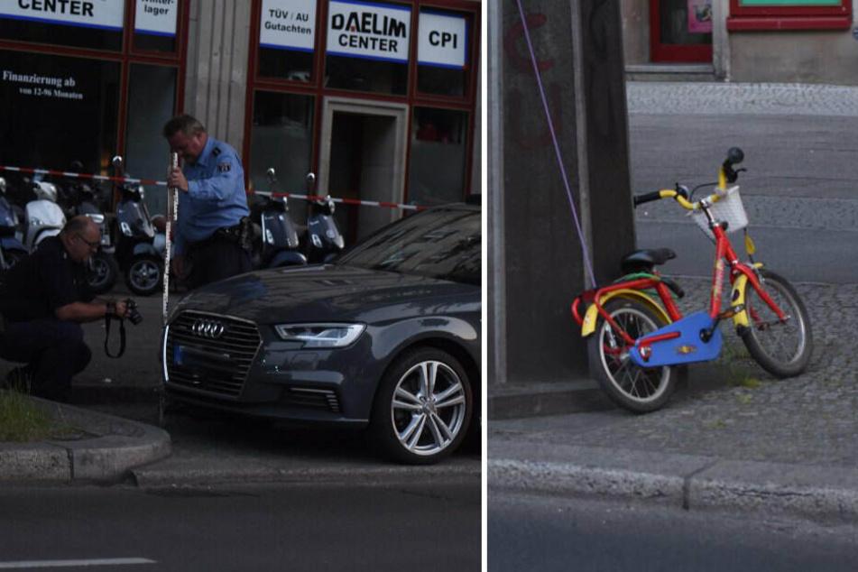 Unfalldrama in Berlin: Kind fährt mit dem Fahrrad, dann kommt ein Auto