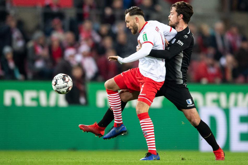 Marco Höger (29) fehlt dem 1. FC Köln aufgrund seiner fünften Gelben Karte im Spiel gegen Magdeburg.