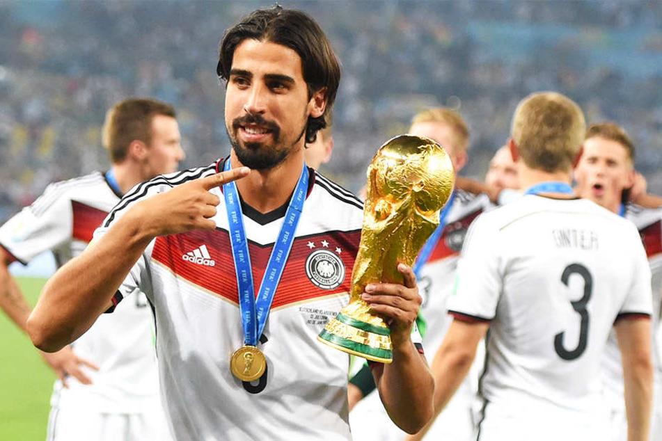 Der bisher größte Erfolg in Sami Khediras Karriere: Der Gewinn der WM 2014 mit Deutschland.