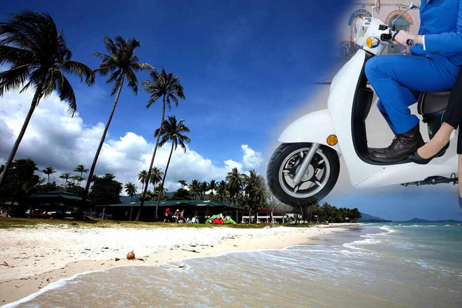 Zwei Deutsche starben jetzt auf der beliebten Ferieninsel Koh Samui in Thailand. (Bildmontage)