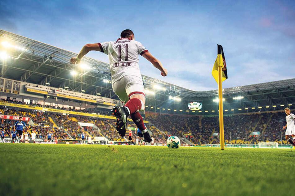 Haris Duljevic ist im Dresden angekommen. Die Stadt liebt er, die Fans imS tadion feiern hin bereits.