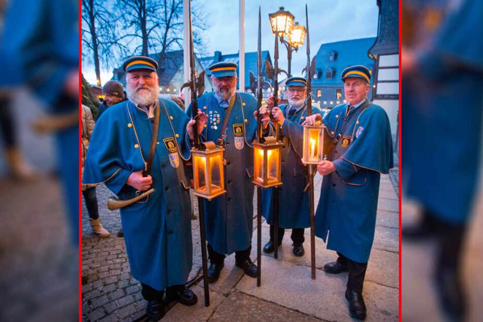 Die Zwönitzer Nachtwächter begleiten heute das Programm zur Mariä Lichtmess.
