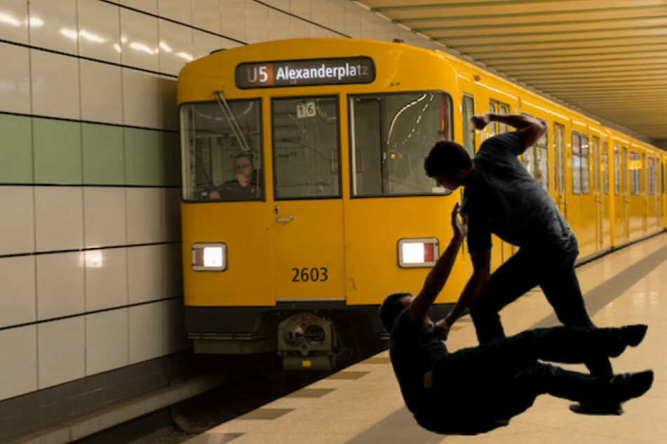 Bei Schlägerei stürzen drei Männer ins Gleisbett, dann kommt die U-Bahn