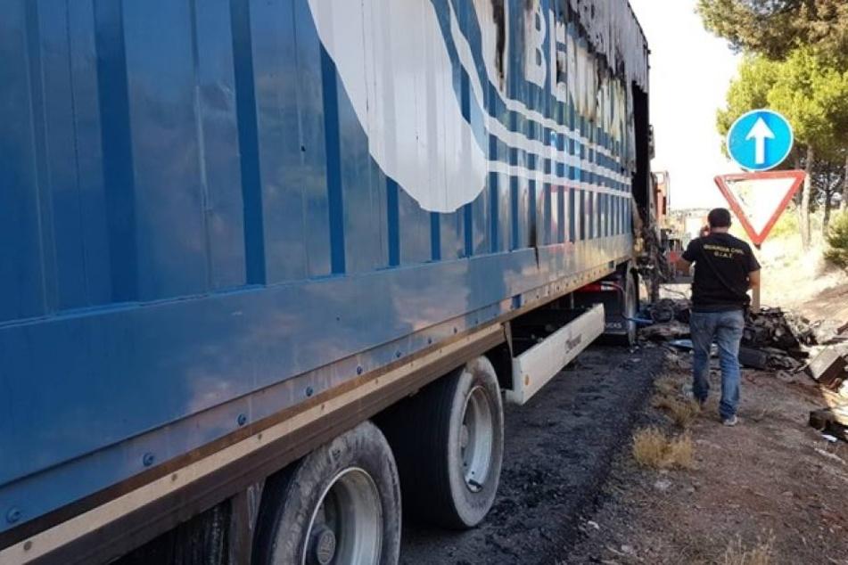 In diesem Truck soll Sophia L. mitgefahren sein, dann passierte das Verbrechen.