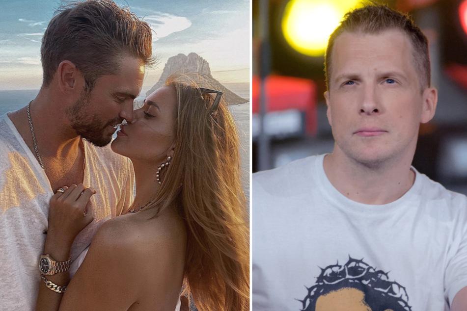 Jessica Paszka (28) und Johannes Haller (32) erwarten offenbar Nachwuchs - Oliver Pocher (42, r.) hat schonmal gratuliert.