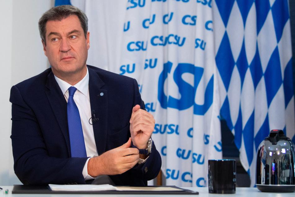 Der Winter naht: Markus Söder (53, CSU) warnte in seiner Rede vor den Auswirkungen der Corona-Krise.
