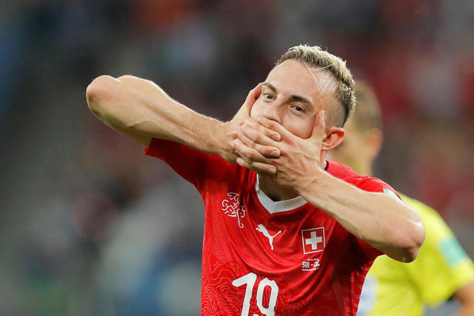 Der Gladbacher Josip Drmic glänzte bei der Fußball-WM als Torschütze für die Schweiz. In der Bundesliga ist der Angreifer meist nur Reservist.