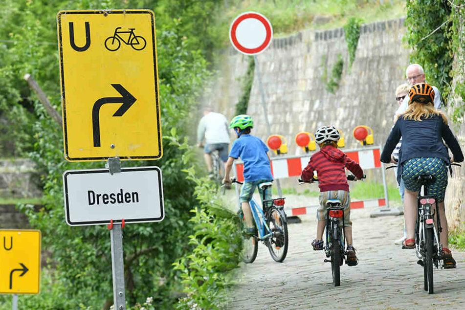 Elberadweg: Am Körnerweg geht's jetzt ganz schnell
