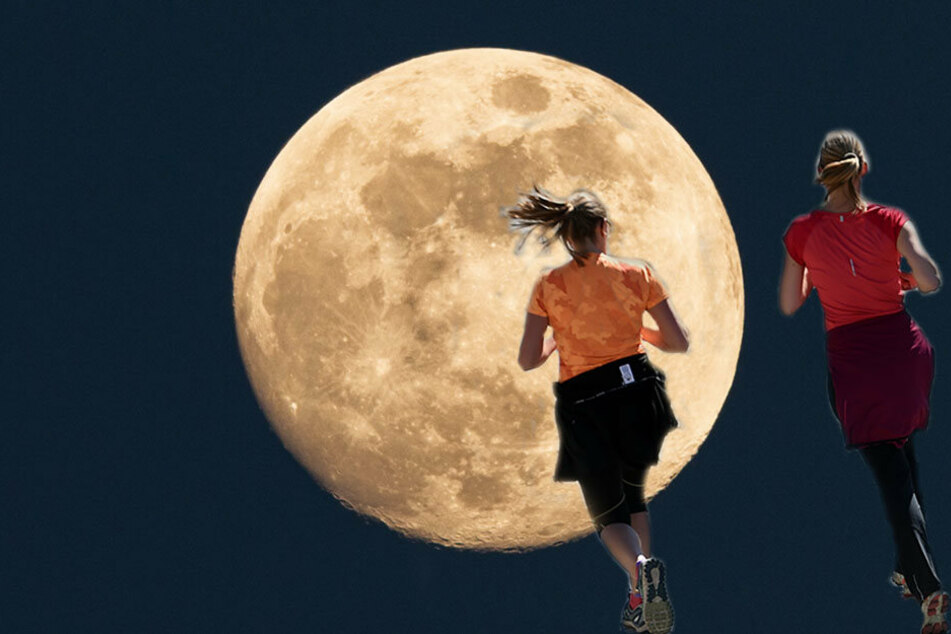Laufen bei Mondschein für den guten Zweck- immer zum Vollmond treffen sich die Sportler. (Symbolbild)