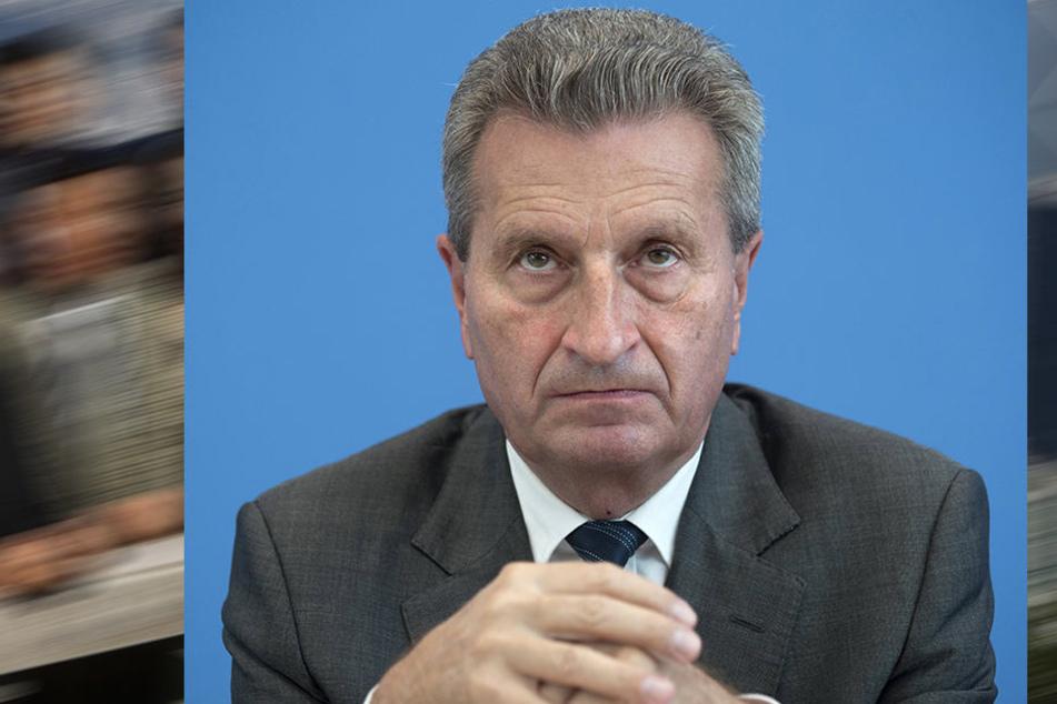 EU-Kommissar Günther Oettinger (63, CDU) steht seit dem Wochenenden in harter Kritik.