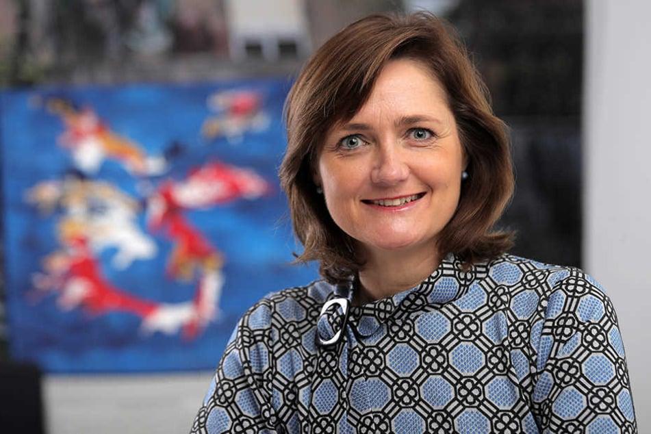 Sie kandidiert ebenfalls: Flensburger Oberbürgermeisterin Simone Lange.