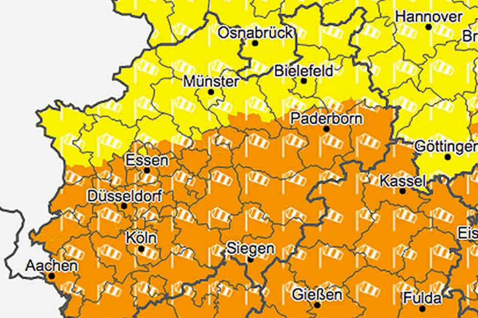 Es wird stürmisch in NRW.