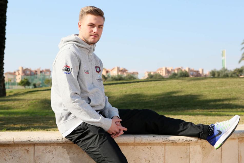 Gut gelaunt und voller Zuversicht - der 24-jährige Florian Trinks.