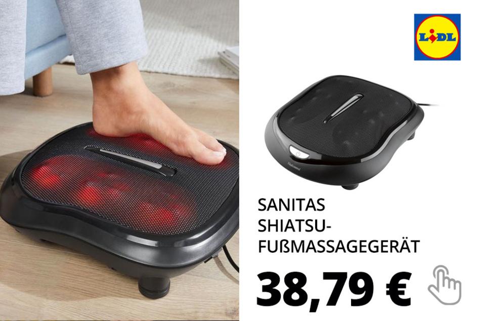 SANITAS Shiatsu-Fußmassagegerät, 100 Watt, Wärmefunktion