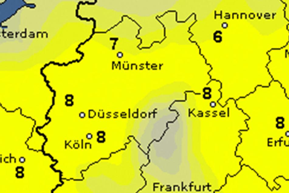 In OWL pendeln sich die Temperaturen am Wochenende zwischen vier bis sechs Grad ein.