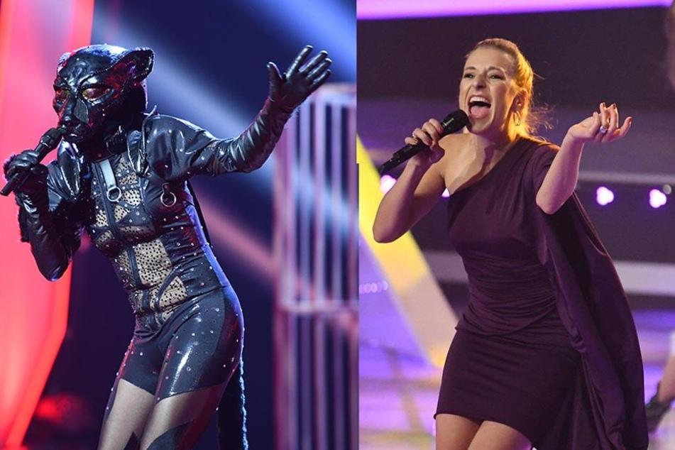 Sängerin Stefanie Hertel (39), wie man sie kennt. Aber steckt sie auch unter der Panther-Maske in der ProSieben-Show?