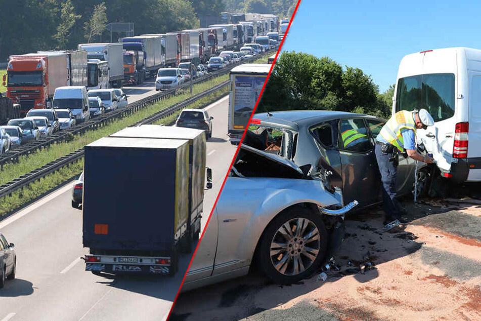 Wieder Stau auf der A4! Chaos nach mehreren Unfällen