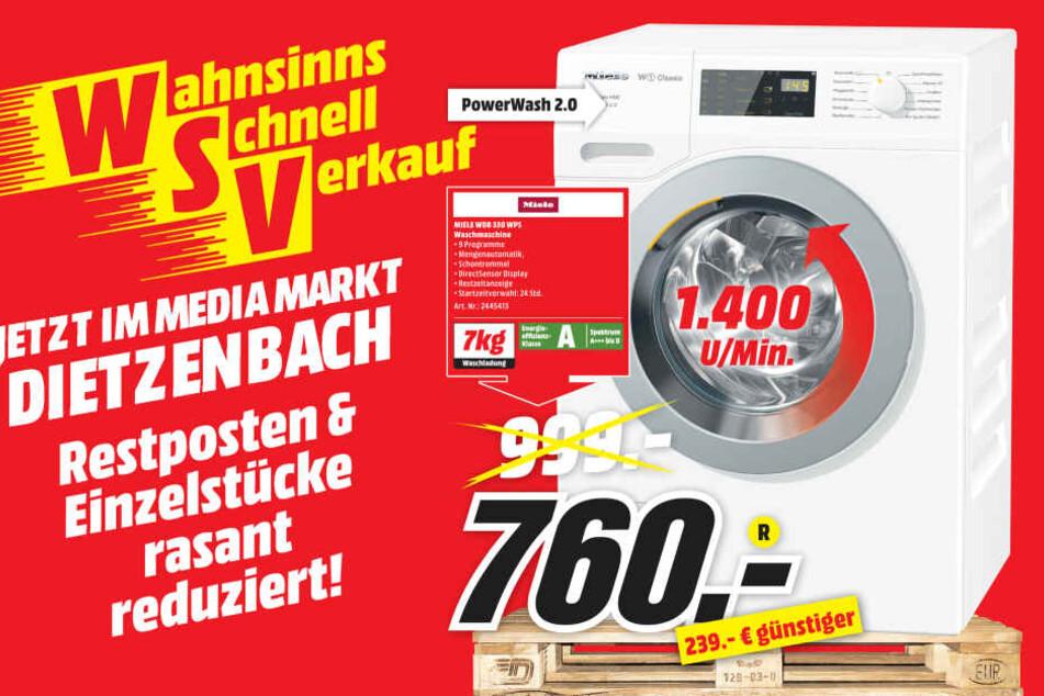 Waschmaschine Von Miele Fur 760 Statt 999 Euro