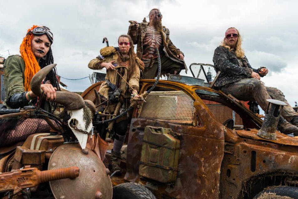"""Beim Wacken-Festival vor zwei Jahren erinnerte die Aufmachung der """"Wasteland Warriors"""" an die Film-Reihe """"Mad Max""""."""