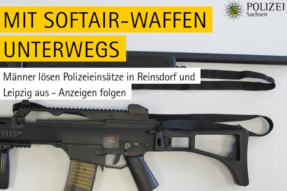 """Auf Facebook warnt die Polizei vor dem """"unsachgemäßen"""" Gebrauch der Softair-Waffen."""