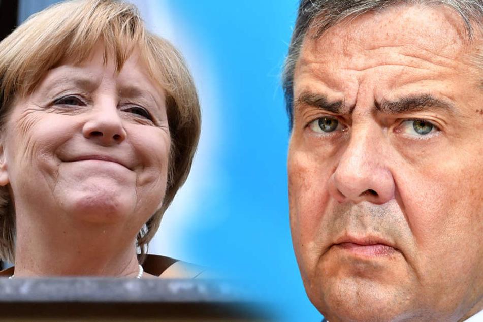 Gabriel (57, SPD) spricht sich gegen eine Neuauflage der Großen Koalition mit Kanzlerin Merkel aus.