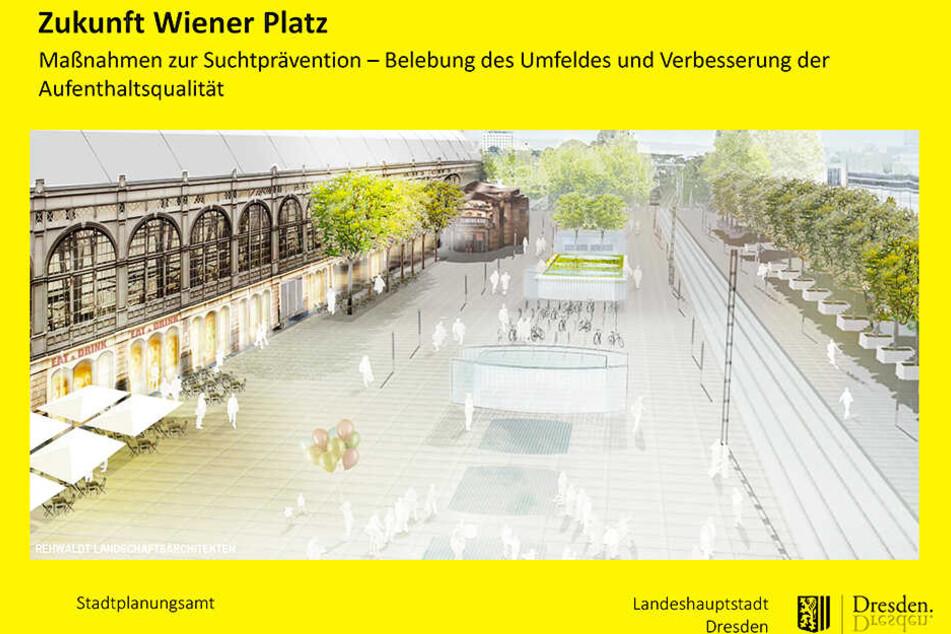 Grün und offen gestaltet: So soll der Platz vor dem Hauptbahnhof einmal aussehen. Die Umgestaltung muss zunächst vom Stadtrat beschlossen werden.
