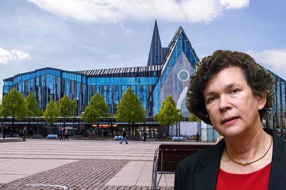 Das Landgericht Leipzig gab dem verhinderten Professor überraschend Recht. Uni-Rektorin Schücking (rechts) soll ihn zugunsten einer Mitbewerberin benachteiligt haben.