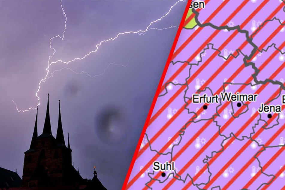 Unwetter-Warnung! Orkan, Hagel und Starkregen erwartet