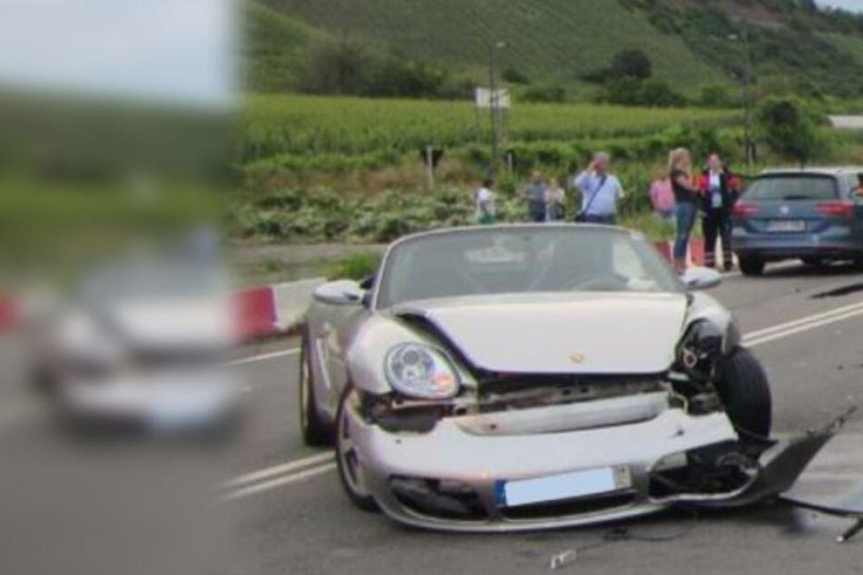 Porsche-Fahrer will wenden und begeht Riesenfehler