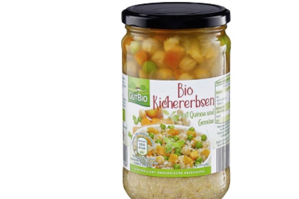 """Die Clama GmbH ruft diese """"Bio Kichererbsen"""" mit MHD 31.12.2023 zurück. Sie werden bei Aldi Nord verkauft."""