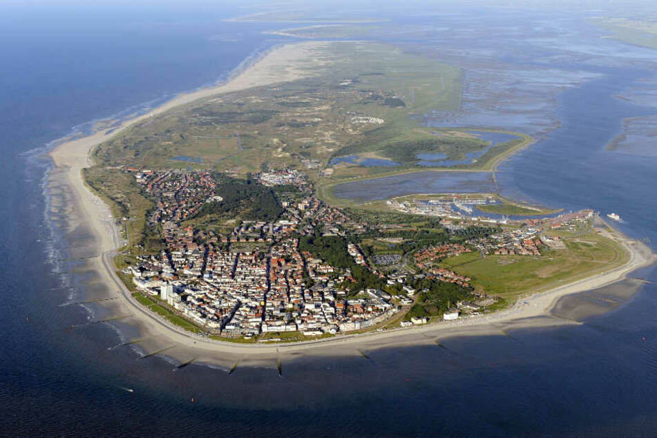 Die Insel Norderney von oben