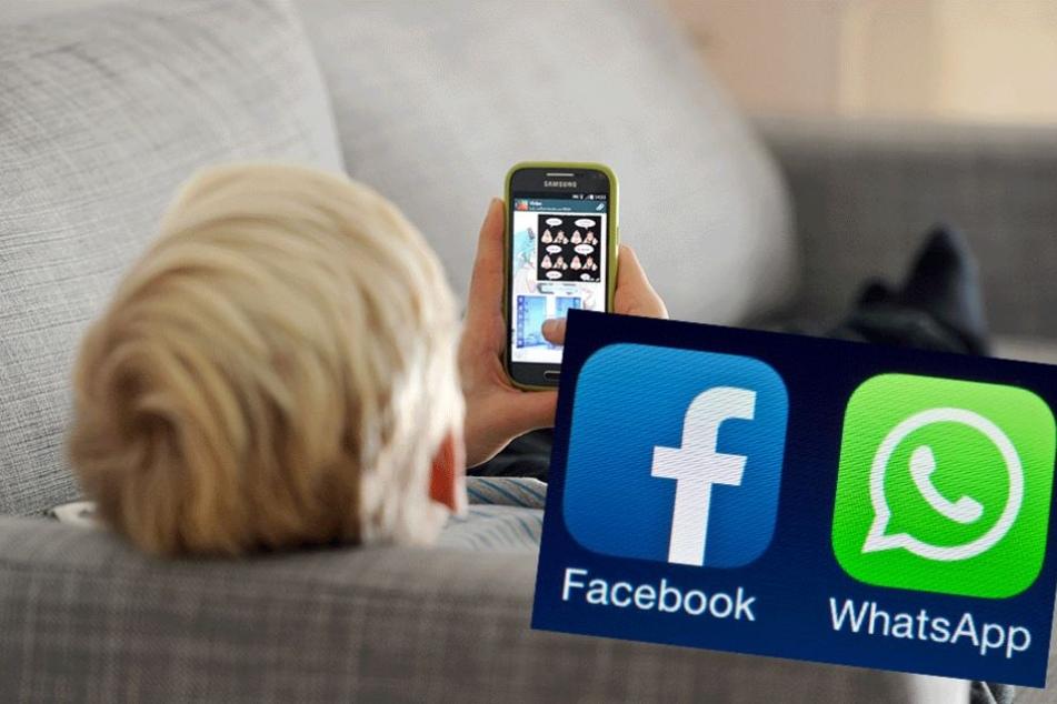 Der Streit geht darum, ob WhatsApp Kundendaten an  Facebook weitergeben darf.