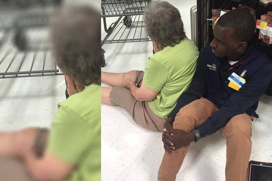 Alte Frau bricht im Supermarkt zusammen: Angestellter reagiert großartig