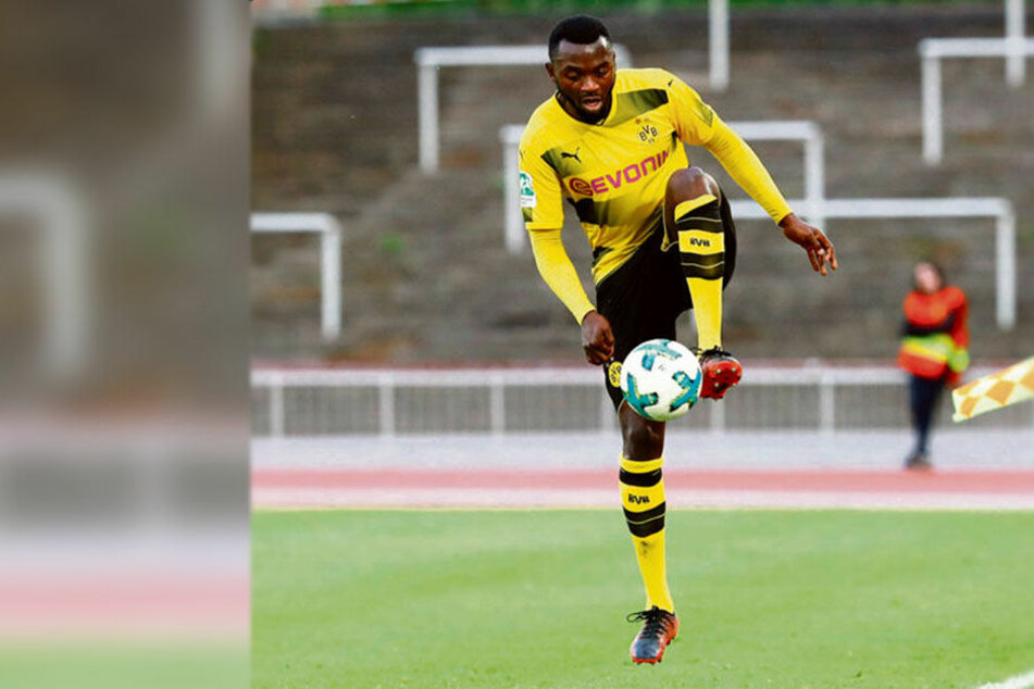 Paterson Chato im BVB-Trikot. Beim FSV hofft er auf den Sprung in die 3. Liga.