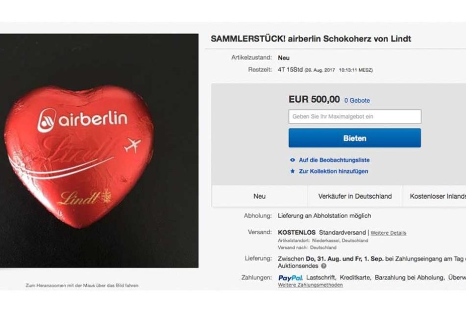Bis zu 500 Euro sollen für ein einfaches Schokoherz hingelegt werden,