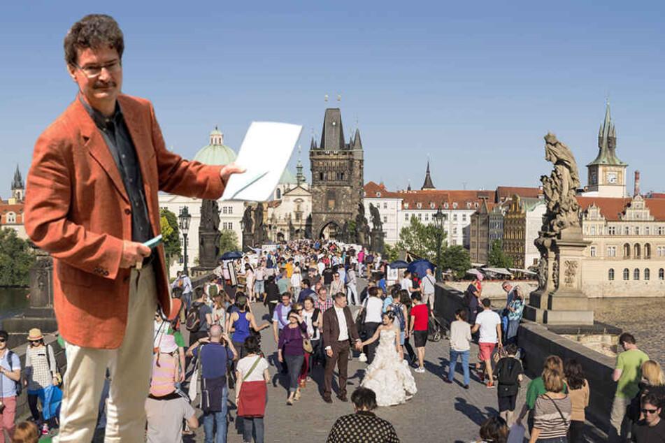 Professor Andreas Schuster berichtet über den die neue Zusammenarbeit mit der TU Prag.