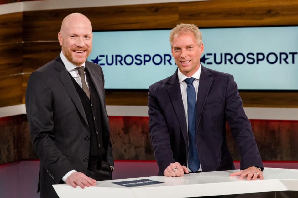 Ausgewählte Partien der Bundesligasaison 2017/2018 werden mit Experte Matthias Sammer (li.) auf Eurosport 2 laufen.