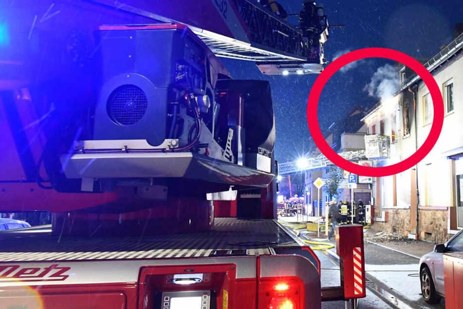 Brand in Stockstadt am Main: Zwei Menschen in Lebensgefahr