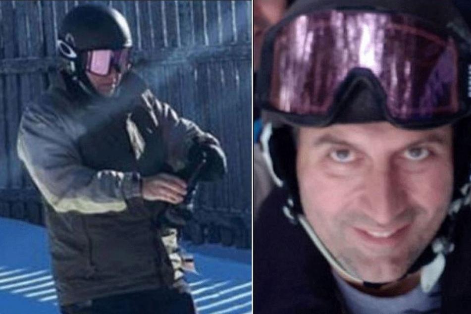 Nachdem der Skifahrer wieder auftauchte, war er verwirrt.