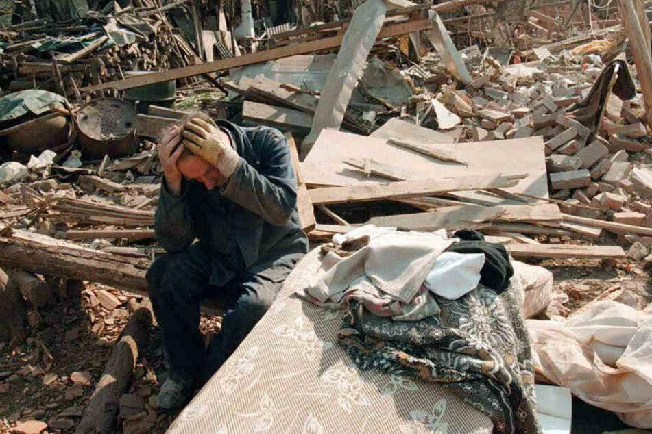 Die Bomben hinterließen überall große Zerstörung. (Archivbild)